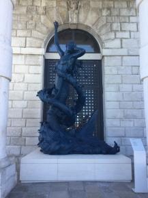 Mermaid sculpture at Punta della Dogana