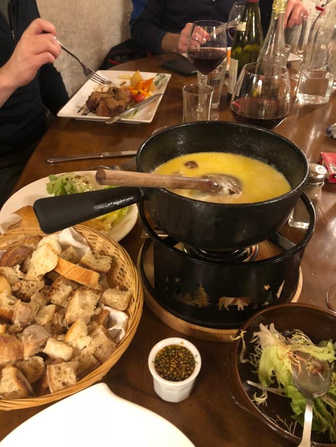 this mushroom/cheese fondue was delish!